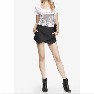 Express faux leather skorts